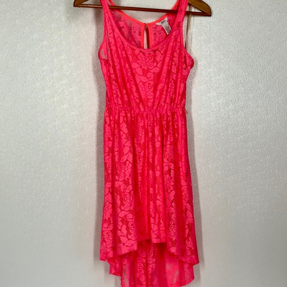 Candie's Dresses & Skirts - Candie's High Low Lace Tank Stretch Dress